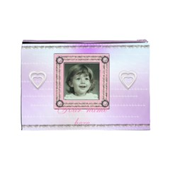 Stitched Frame Pink By Claire Mcallen   Cosmetic Bag (large)   Updaqsykljcu   Www Artscow Com Back