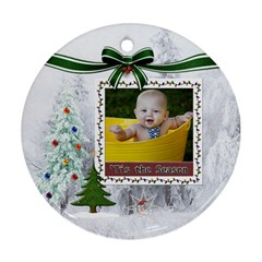 Tis The Season Round Ornament (2 Sided) By Lil    Round Ornament (two Sides)   Vft37agv9yfo   Www Artscow Com Front
