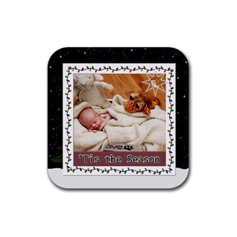 Tis The Season Square Rubber Coaster By Lil    Rubber Coaster (square)   Vanrlap71hu6   Www Artscow Com Front