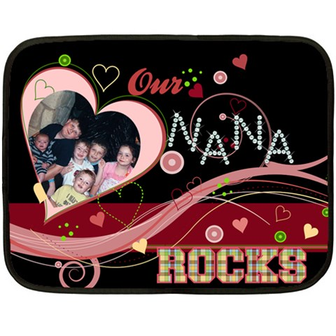 Nana2 By Angela Christensen   Fleece Blanket (mini)   9rpoklpovinf   Www Artscow Com 35 x27 Blanket