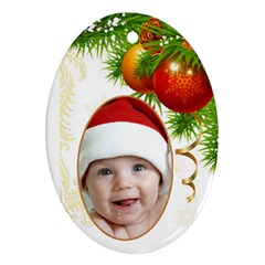 Christmas Oval (2 Sided) Ornament By Deborah   Oval Ornament (two Sides)   R8r45pajtg72   Www Artscow Com Front
