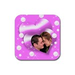 Two hearts Coaster - Rubber Coaster (Square)