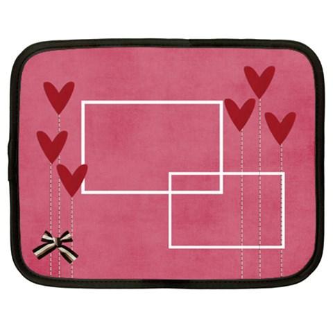 Netbook Case (xxl): Hearts 2 By Jennyl   Netbook Case (xxl)   2nf1j15io467   Www Artscow Com Front