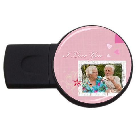 I Love You By Joely   Usb Flash Drive Round (1 Gb)   Go0hp7obk3xi   Www Artscow Com Front