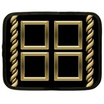 Black and gold Netbook Case - Netbook Case (Large)