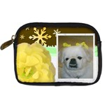 yellow rose leather camera case - Digital Camera Leather Case