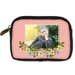 Digital Camera Leather Case : Garden of Flowers