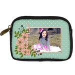 Digital Camera Leather Case : Garden of Flowers2