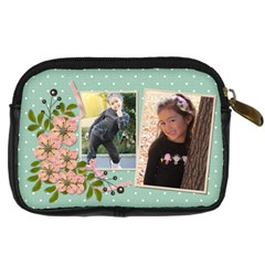 Digital Camera Leather Case : Garden Of Flowers2 By Jennyl   Digital Camera Leather Case   Xvl9kwx2451r   Www Artscow Com Back