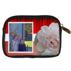 Red And White Carmera Case By Kim Blair   Digital Camera Leather Case   5dpo5sbt99r8   Www Artscow Com Back