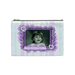 Beautiful Butterfly Stripe By Claire Mcallen   Cosmetic Bag (medium)   Cd21miipx224   Www Artscow Com Front