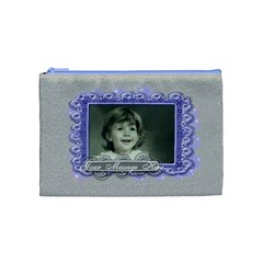 Beautiful Butterfly Blue By Claire Mcallen   Cosmetic Bag (medium)   Uhp5qc14krfw   Www Artscow Com Front