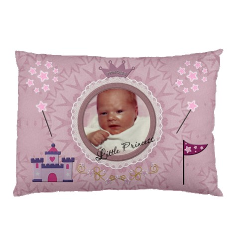 Little Princess Pillow Case By Lil    Pillow Case   Tbx5qv2yb5vt   Www Artscow Com 26.62 x18.9  Pillow Case