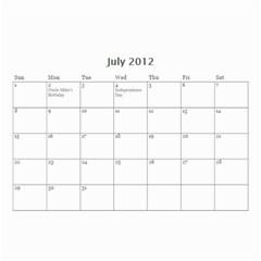 Zoe By Lnchubey   Wall Calendar 8 5  X 6    Ejh9iijftbpe   Www Artscow Com Jul 2012
