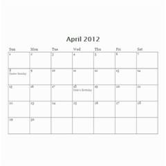 Zoe By Lnchubey   Wall Calendar 8 5  X 6    Ejh9iijftbpe   Www Artscow Com Apr 2012