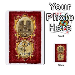 Notre Dame, Cards And Messages For 3 More Players By Peter Dahlstrom   Multi Purpose Cards (rectangle)   6m5kprm5rmdn   Www Artscow Com Front 12