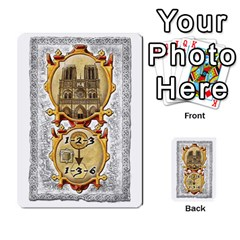 Notre Dame, Cards And Messages For 3 More Players By Peter Dahlstrom   Multi Purpose Cards (rectangle)   6m5kprm5rmdn   Www Artscow Com Front 3