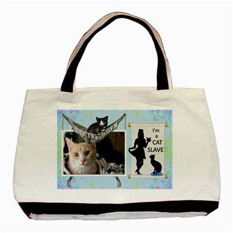 Cat Slave Classic Tote Bag (1 Sided) By Lil    Basic Tote Bag   U7ynkm1zzwzq   Www Artscow Com Front