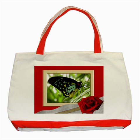 Framed Classic Red Tote By Deborah   Classic Tote Bag (red)   Mu6s7knufp1g   Www Artscow Com Front
