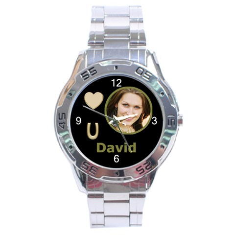 Gold Love U Analogue Watch By Deborah   Stainless Steel Analogue Watch   U312kz4lnffk   Www Artscow Com Front