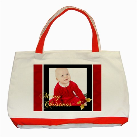 Christmas  By May   Classic Tote Bag (red)   Sqrd0t7jprym   Www Artscow Com Front