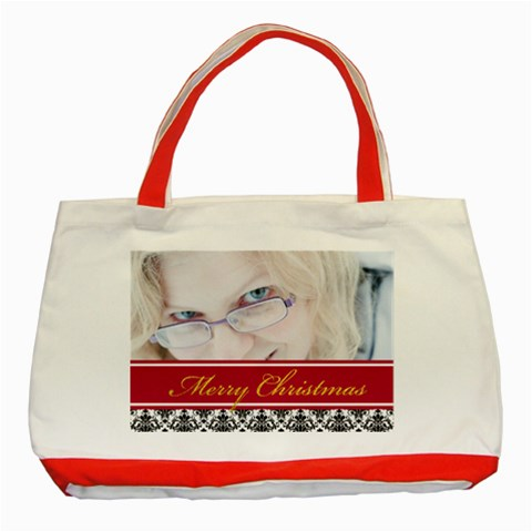 Christmas  By May   Classic Tote Bag (red)   K4bcbj8akyyq   Www Artscow Com Front