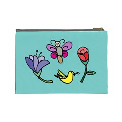 Kids Art Whimsy Bag By Cheng2   Cosmetic Bag (large)   Munuriuckqs4   Www Artscow Com Back