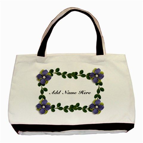 Classic Tote Bag: Vines And Flowers By Jennyl   Basic Tote Bag   F8krihtjda1a   Www Artscow Com Front
