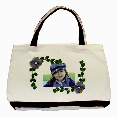 Classic Tote Bag: Vines And Flowers2 By Jennyl   Basic Tote Bag   Volvknwa0d72   Www Artscow Com Front