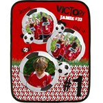 Soccer/football- mini fleece blanket - Fleece Blanket (Mini)
