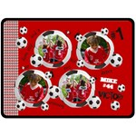 Soccer/football- fleece blanket (extra large)