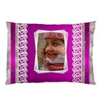 Lace pink Pillow Case