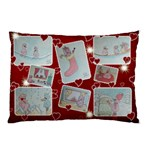 Pink Bird Christmas pillow case