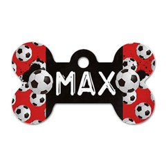 Soccer/football Dog Tag Bone (2 Sides) By Mikki   Dog Tag Bone (two Sides)   Tp7jbr3jg16c   Www Artscow Com Front