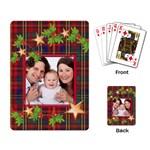 Tartan Garland Christmas Playing Cards - Playing Cards Single Design