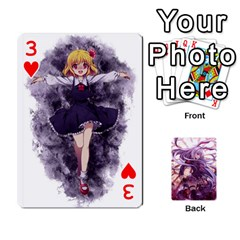 Touhou Playing Card Deck Reisen Back By K Kaze   Playing Cards 54 Designs   718w9ukj92au   Www Artscow Com Front - Heart3