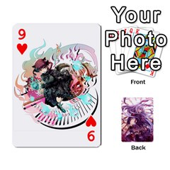 Touhou Playing Card Deck Reisen Back By K Kaze   Playing Cards 54 Designs   718w9ukj92au   Www Artscow Com Front - Heart9
