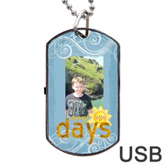 Just Beachy Sunny Days Data Dog Tag By Catvinnat   Dog Tag Usb Flash (two Sides)   5tah935e5roj   Www Artscow Com Back