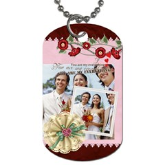 Wedding Time By Joely   Dog Tag (two Sides)   8g544jeijdt6   Www Artscow Com Back