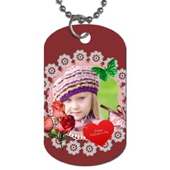 Love  By Joely   Dog Tag (two Sides)   Jortp8v29qnt   Www Artscow Com Front