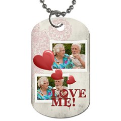 Love  By Joely   Dog Tag (two Sides)   A20ogzq6ocqb   Www Artscow Com Back