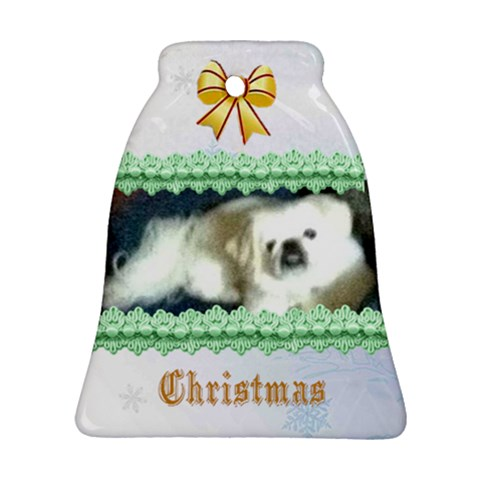 Christmas Bell By Kim Blair   Ornament (bell)   79vbo2r093ou   Www Artscow Com Front