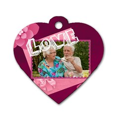 Love Me  By Joely   Dog Tag Heart (two Sides)   6nj9287v60fc   Www Artscow Com Front