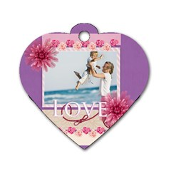 Love Me  By Joely   Dog Tag Heart (two Sides)   Hr8behg2yf9u   Www Artscow Com Front