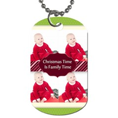 Christmas By May   Dog Tag (two Sides)   Dp8zu71bw8g6   Www Artscow Com Front