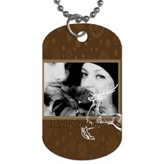 Christmas By May   Dog Tag (two Sides)   Wlbbcfqh3sa2   Www Artscow Com Back