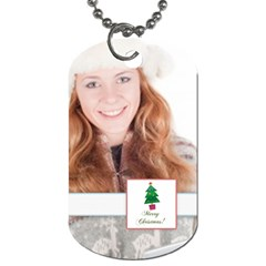 Christmas By May   Dog Tag (two Sides)   Fyu1gqaimnbu   Www Artscow Com Front