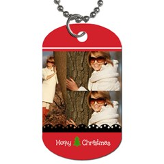 Christmas By May   Dog Tag (two Sides)   4gnioutft2yp   Www Artscow Com Front