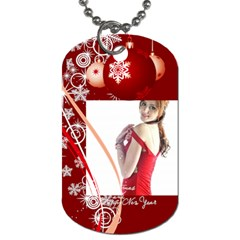 Christmas By Wood Johnson   Dog Tag (two Sides)   D5uynqoheg8r   Www Artscow Com Front