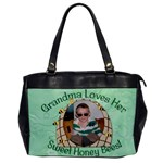 Grandma Loves Her Sweet Honey Bees One Sided - Oversize Office Handbag